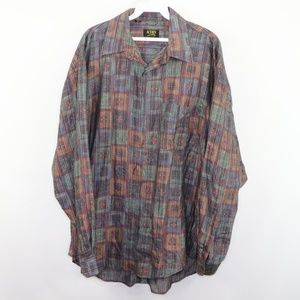 Vintage Multi-Color Abstract Streetwear Shirt L